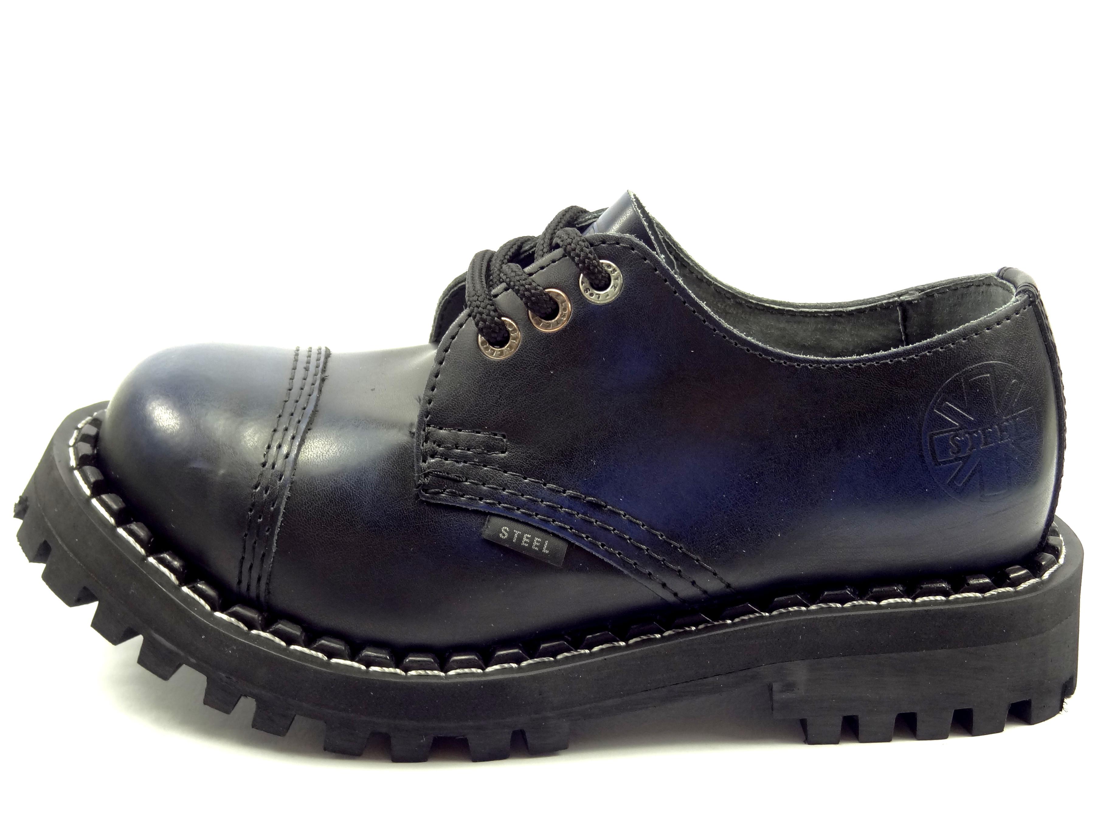 Steel boty 3 dírkové modré 101/102/O blue black