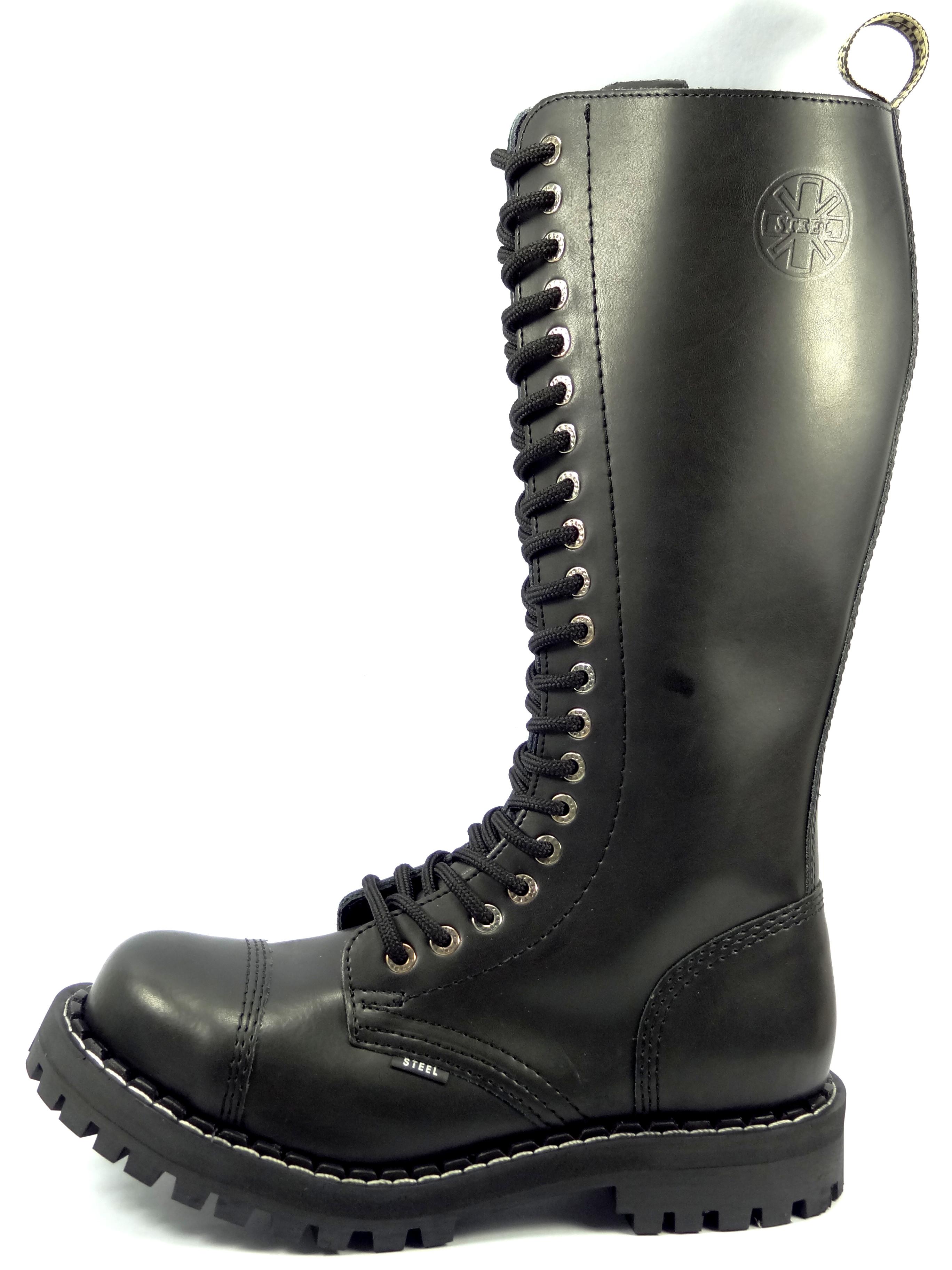 8f9919bd0b2 Steel boty 20 dírkové černé - pouze šněrovací