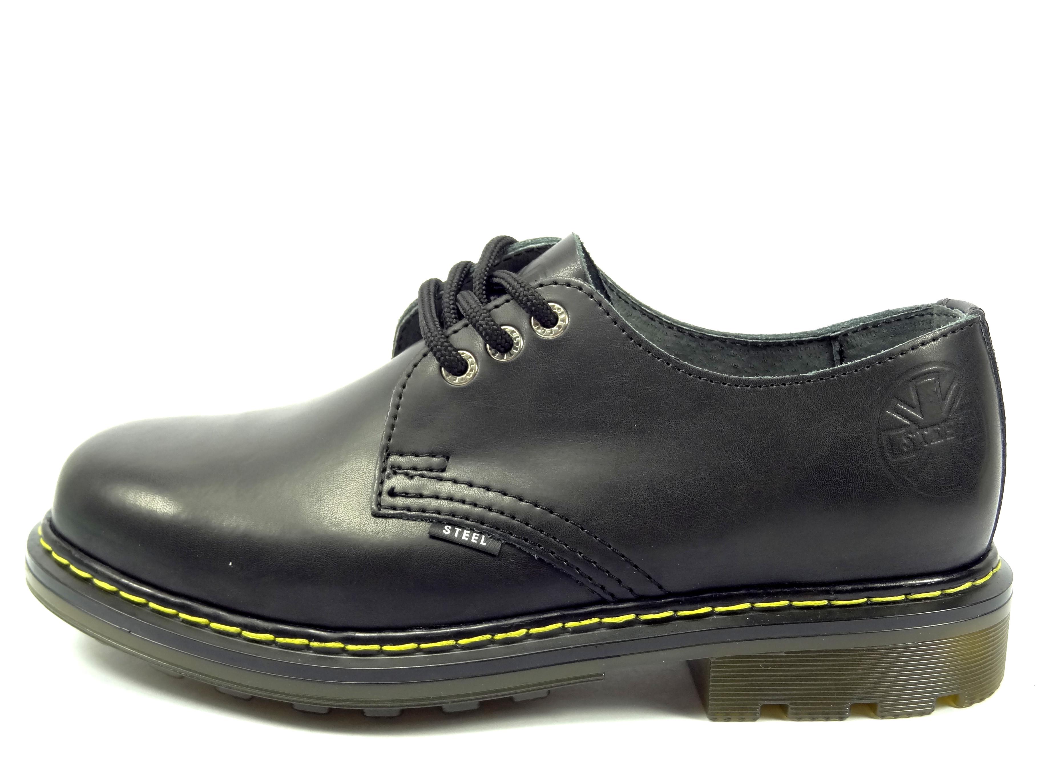 Steel boty 3 dírkové černé - hladká bezocelová špička 7b1bc5bf76