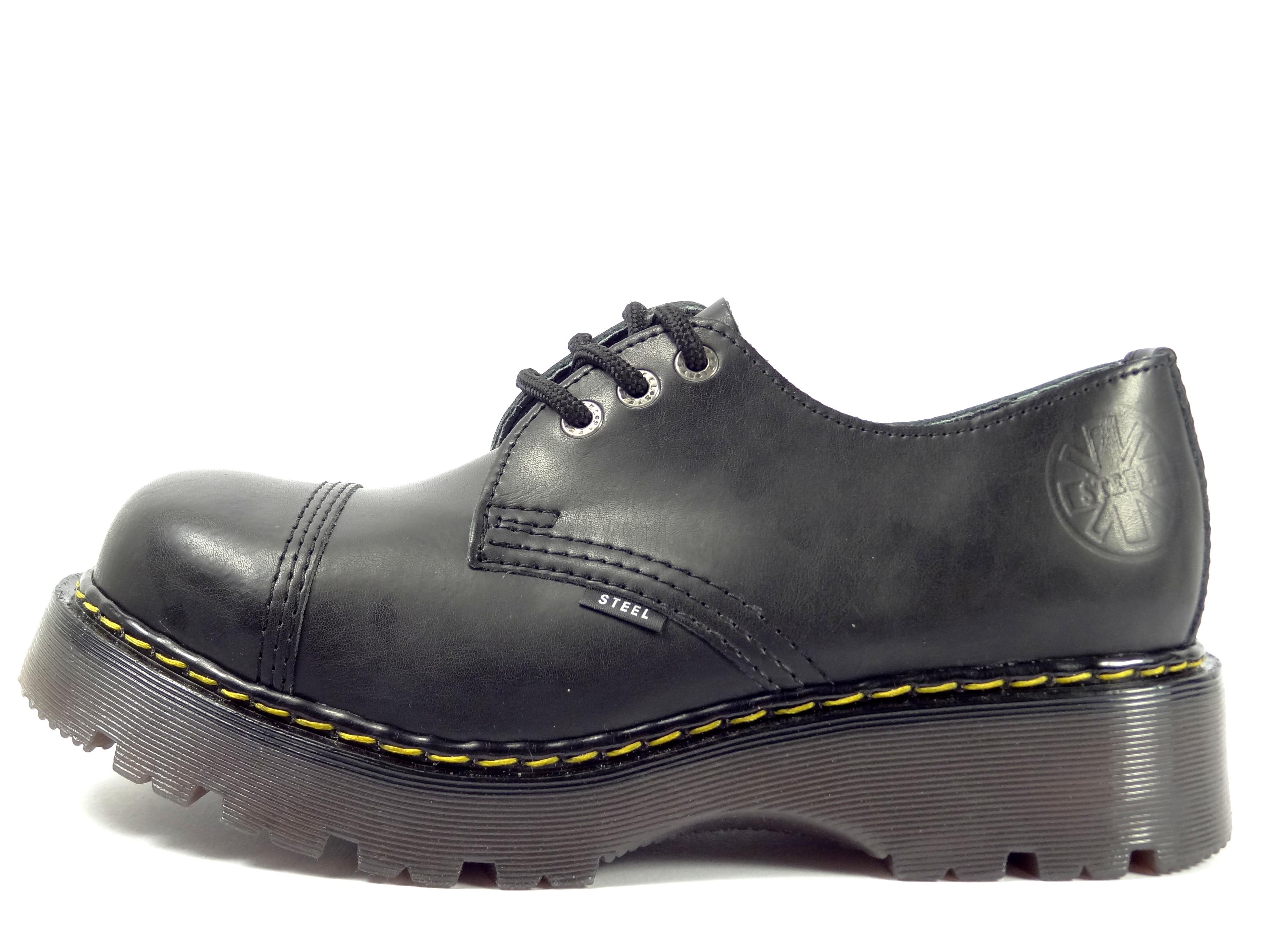 Steel boty 3 dírkové CL černé d2eeb1be48
