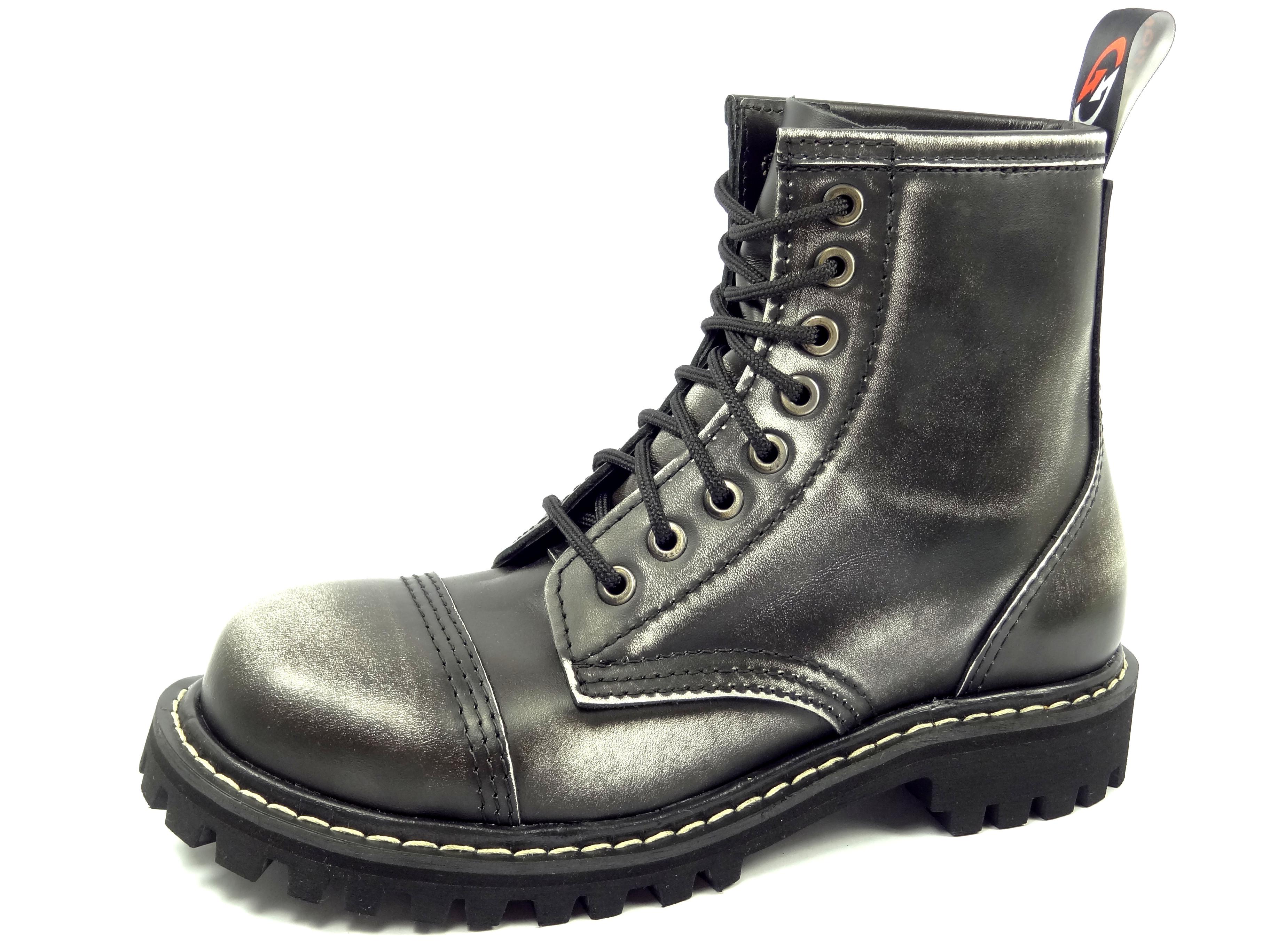 Opposition boty 8 dírkové bílé černé  a27aa62f0f