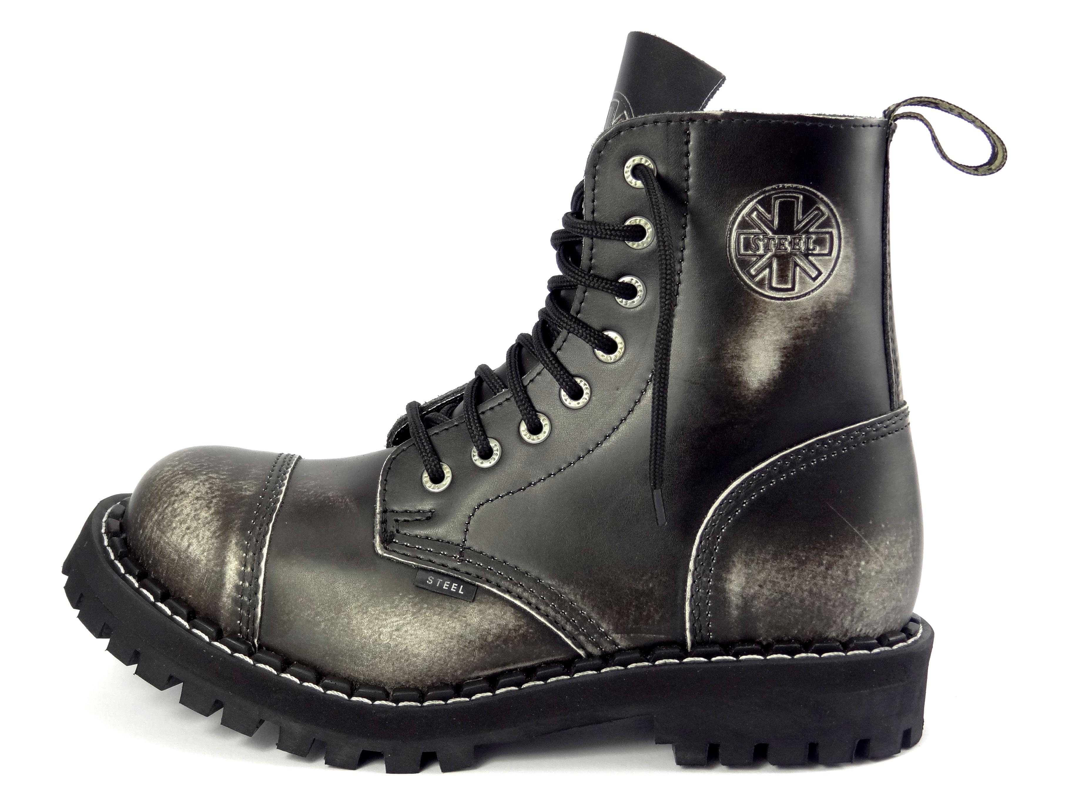 dd7f32dcb42 Steel boty 8 dírkové bílé černé