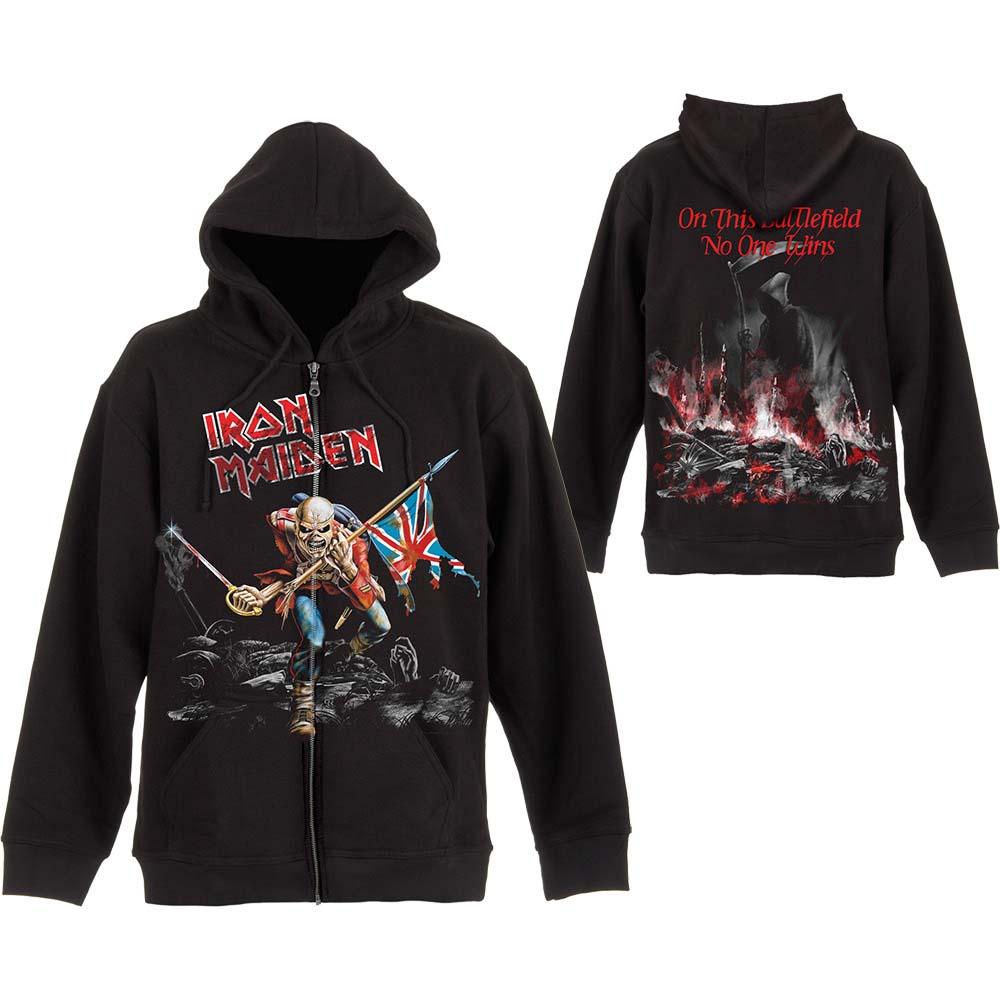 pánská mikina na zip Iron Maiden Scuffed Trooper  37aff3ac786