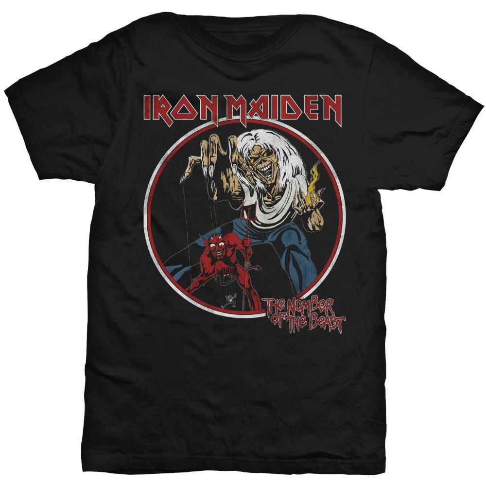 Tričko pánské Iron Maiden Number Of The Beast Vintage