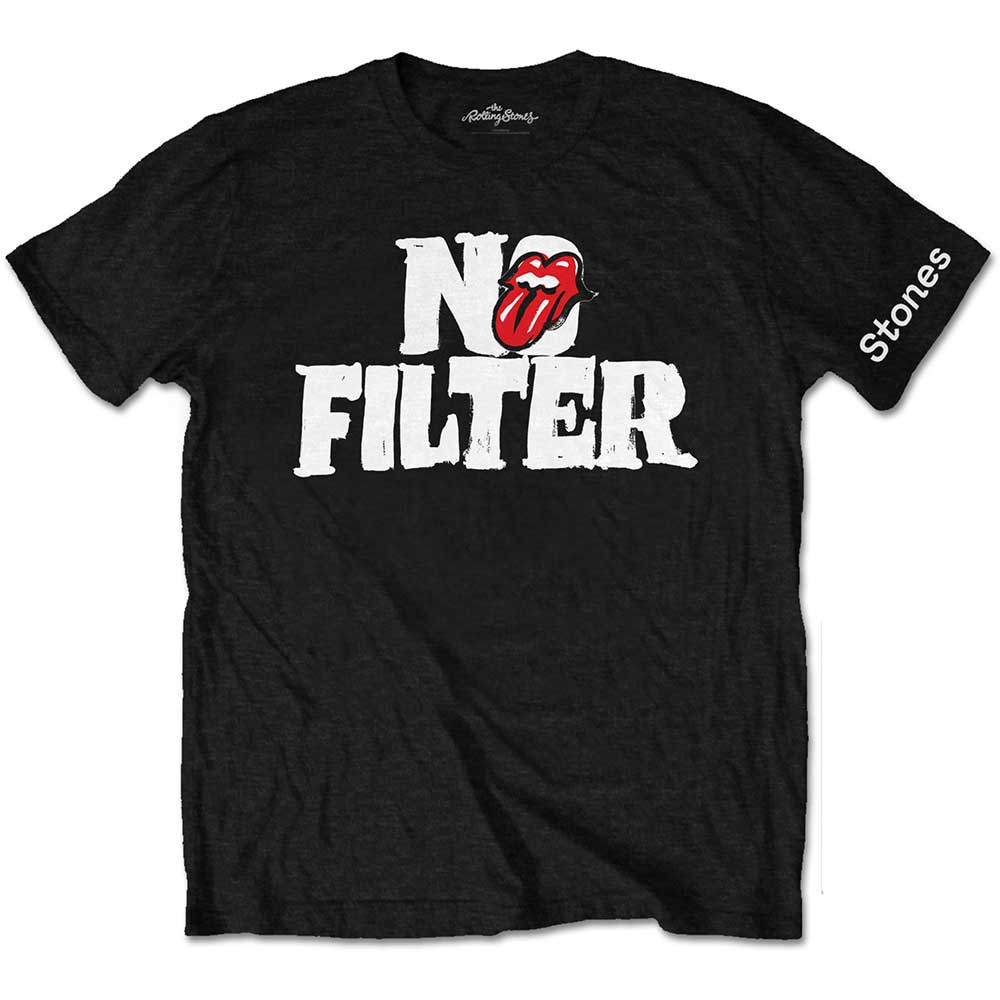 Tričko Rolling Stones No Flitter Header Logo Black Men