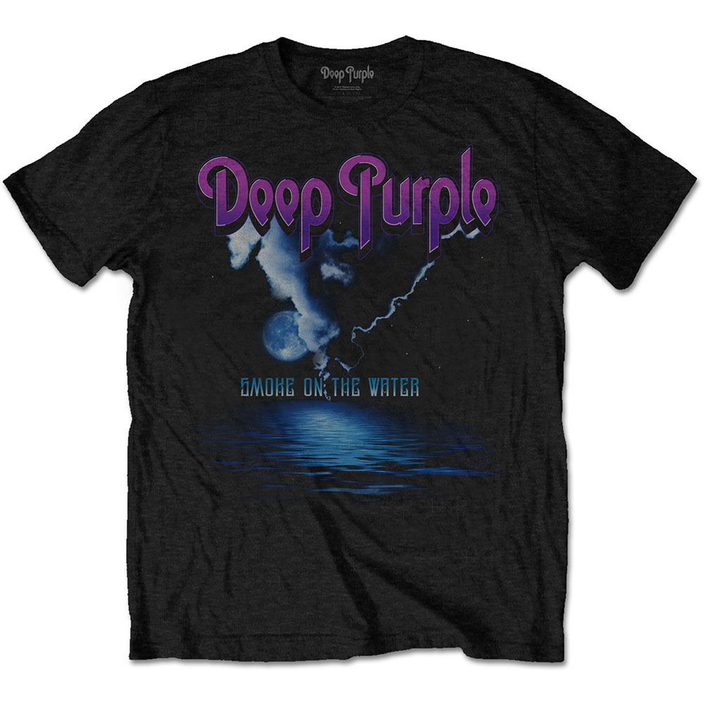 Tričko Deep Purple Smoke on The Water Black Mens