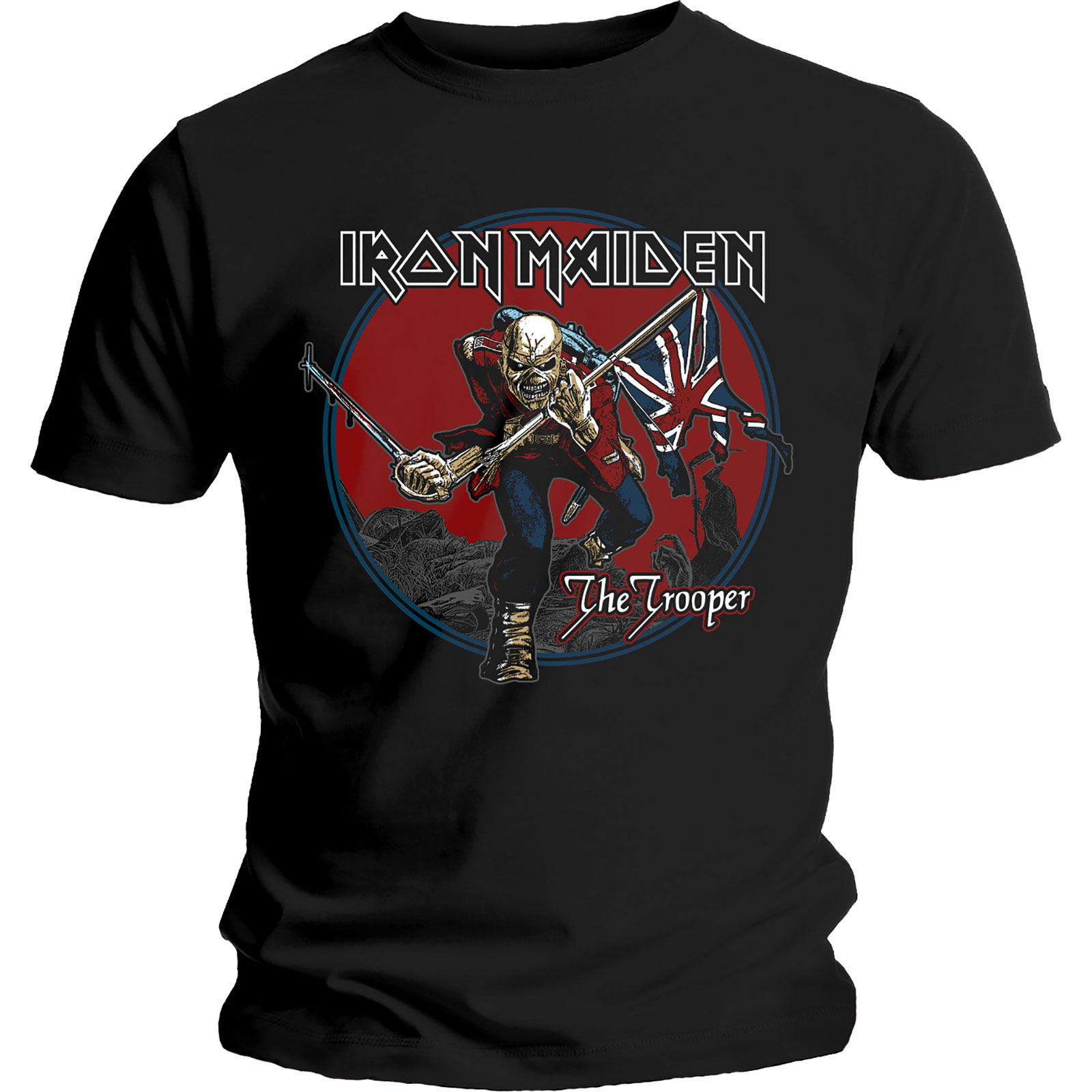 Iron Maiden Trooper Red Sky Mens Black