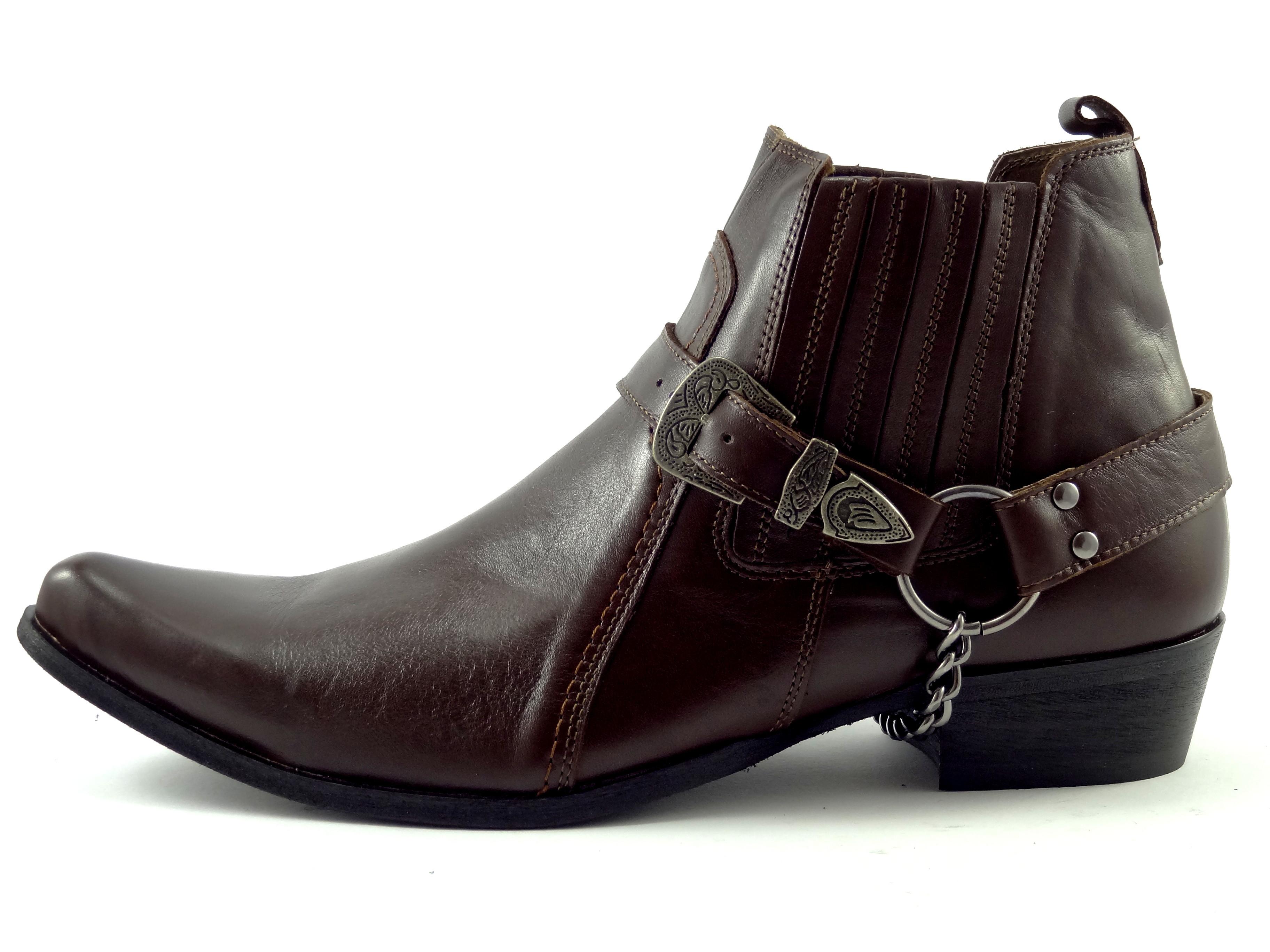 53276647575 Selma westernové boty na motorku na koně 1220 tmavě hnědá