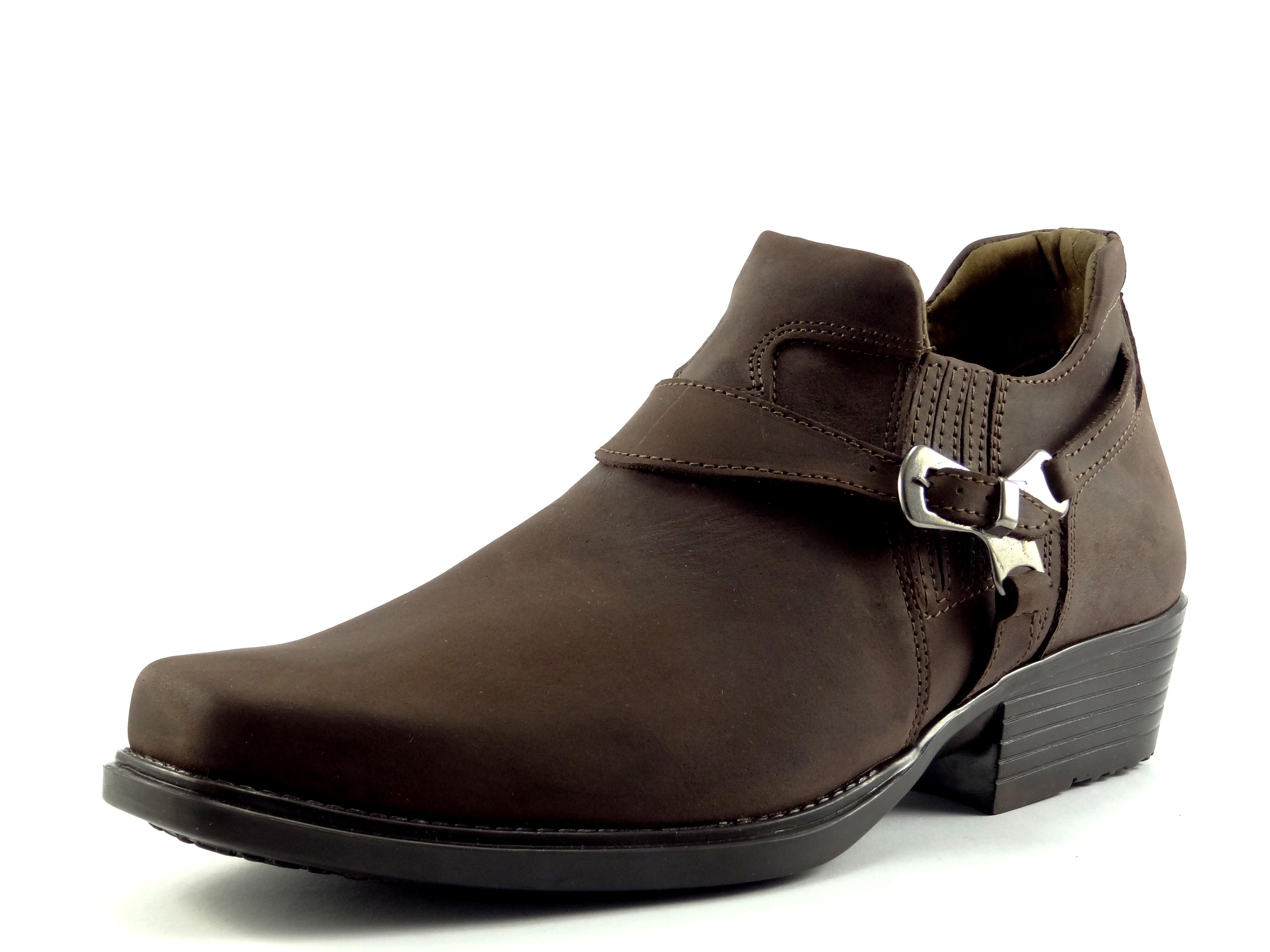 Selma westernové boty na motorku na koně nízká 1026 crazy horse brown 20fee9ec66