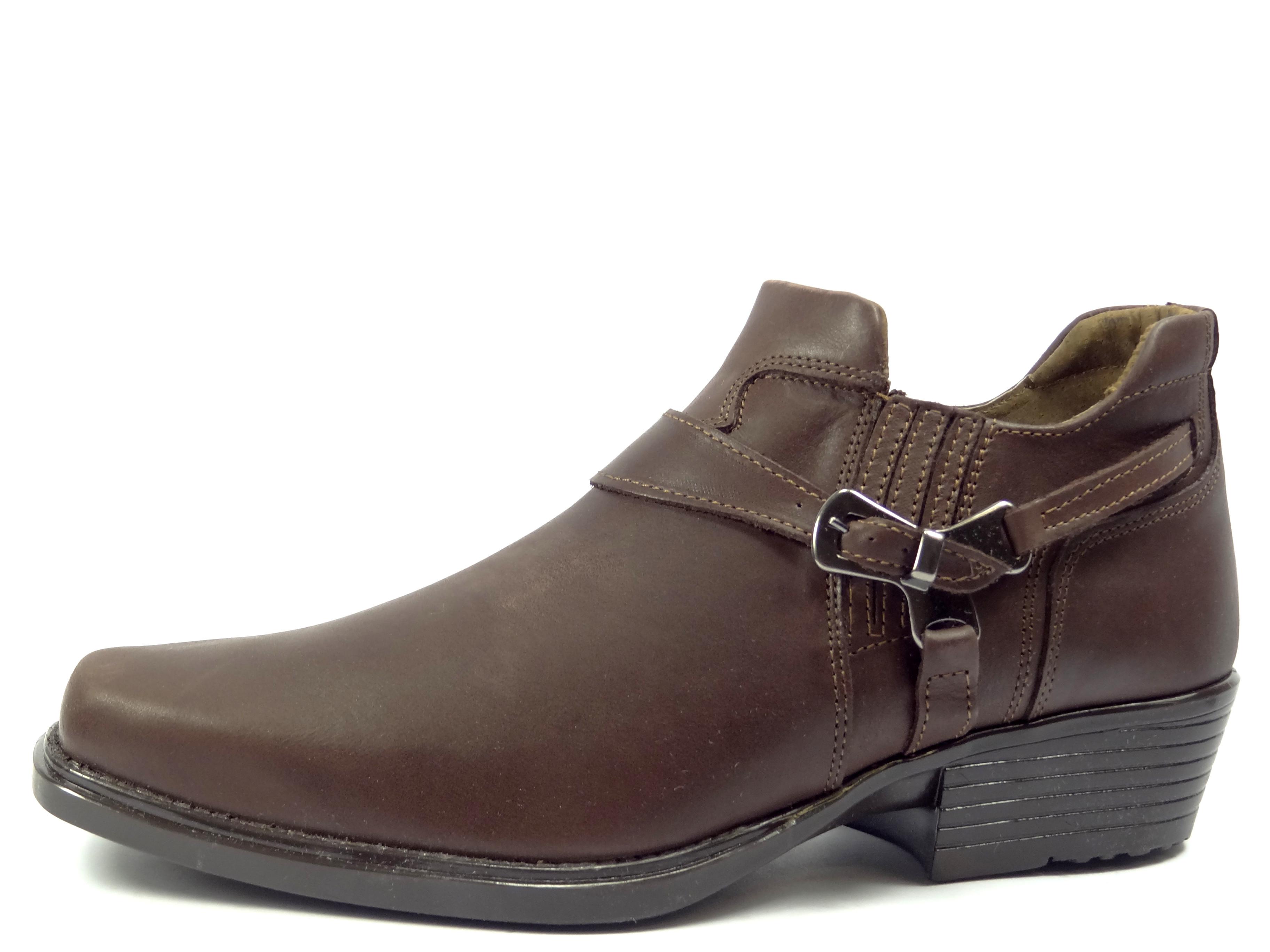 Selma westernové boty na motorku na koně nízká 1026 hladká hnědá ... cca0668ca2