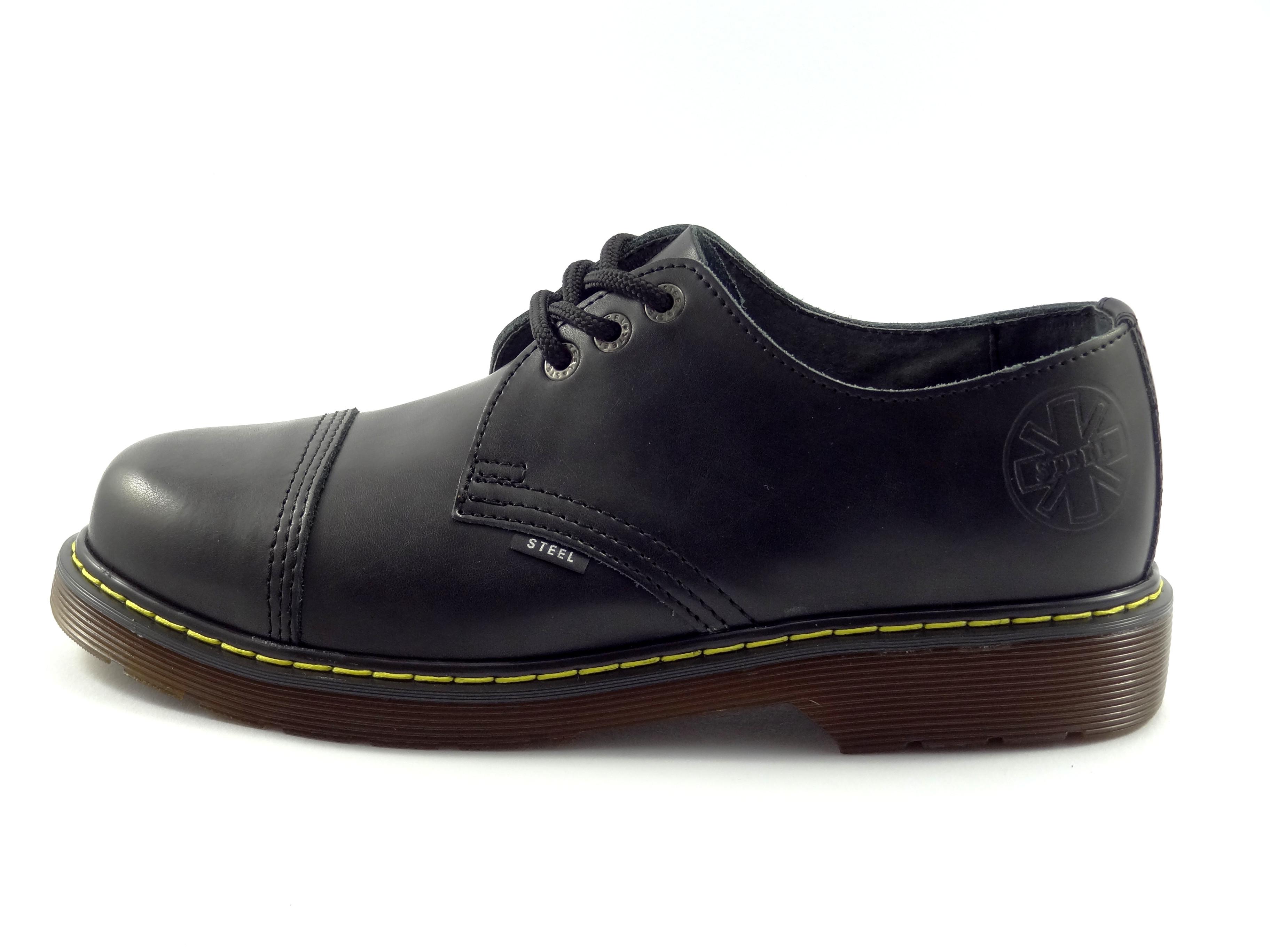 Steel boty 3 dírkové černé - bez ocelové špičky  f9bb77687f