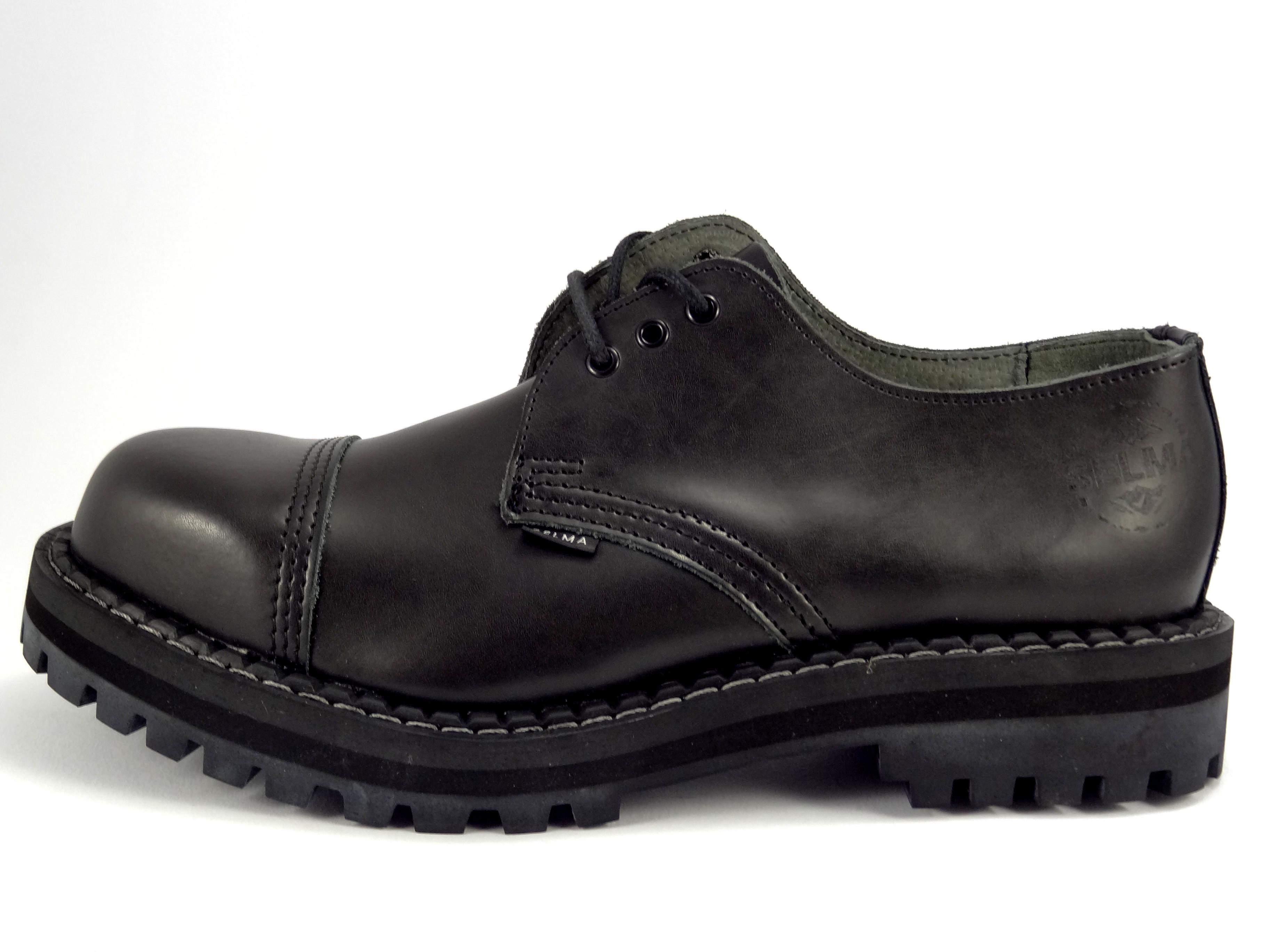 Selma boty 3 dírkové černé  416d9b821a