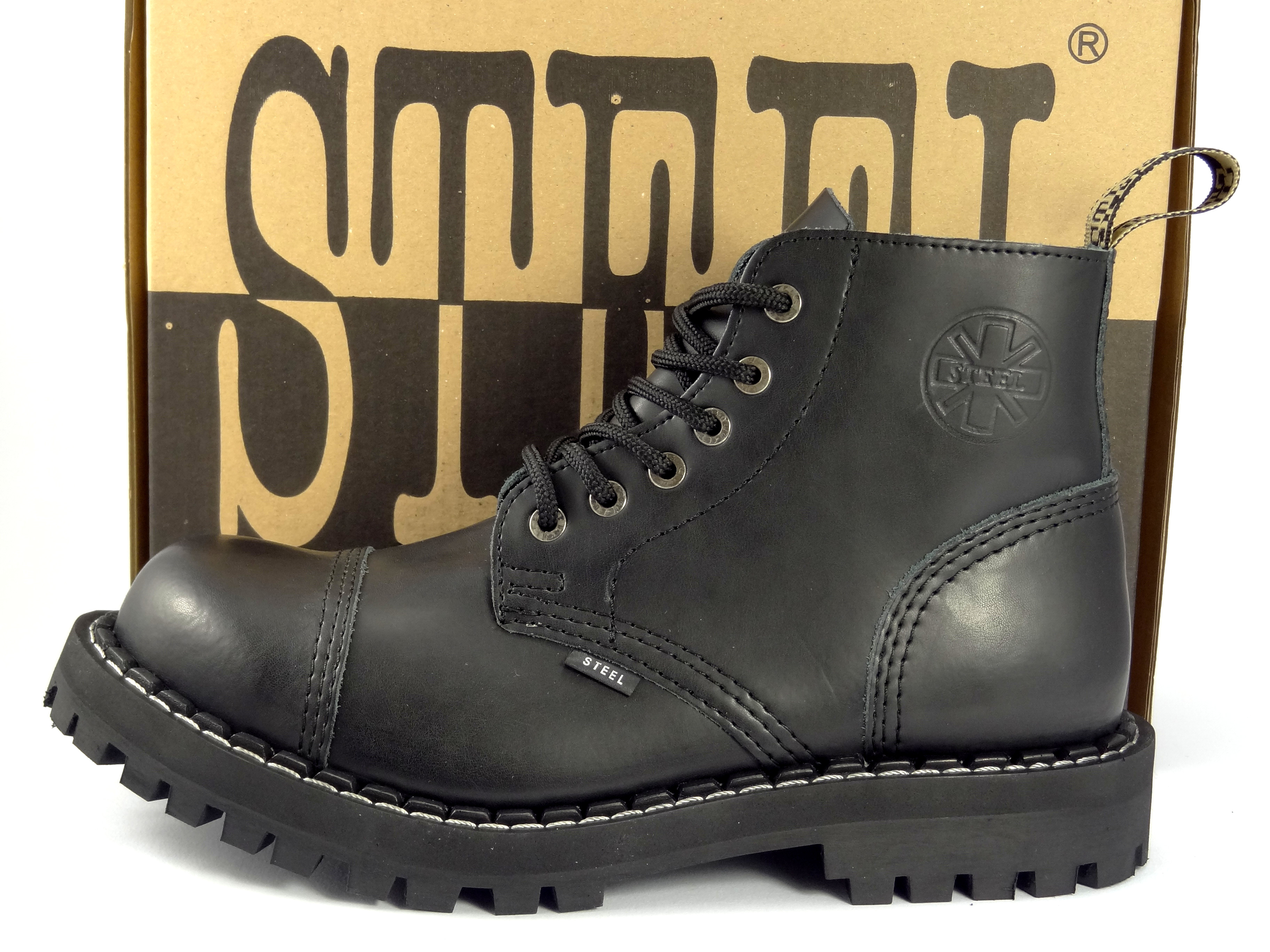 d4e234abd7a Steel boty 6 dírkové černé