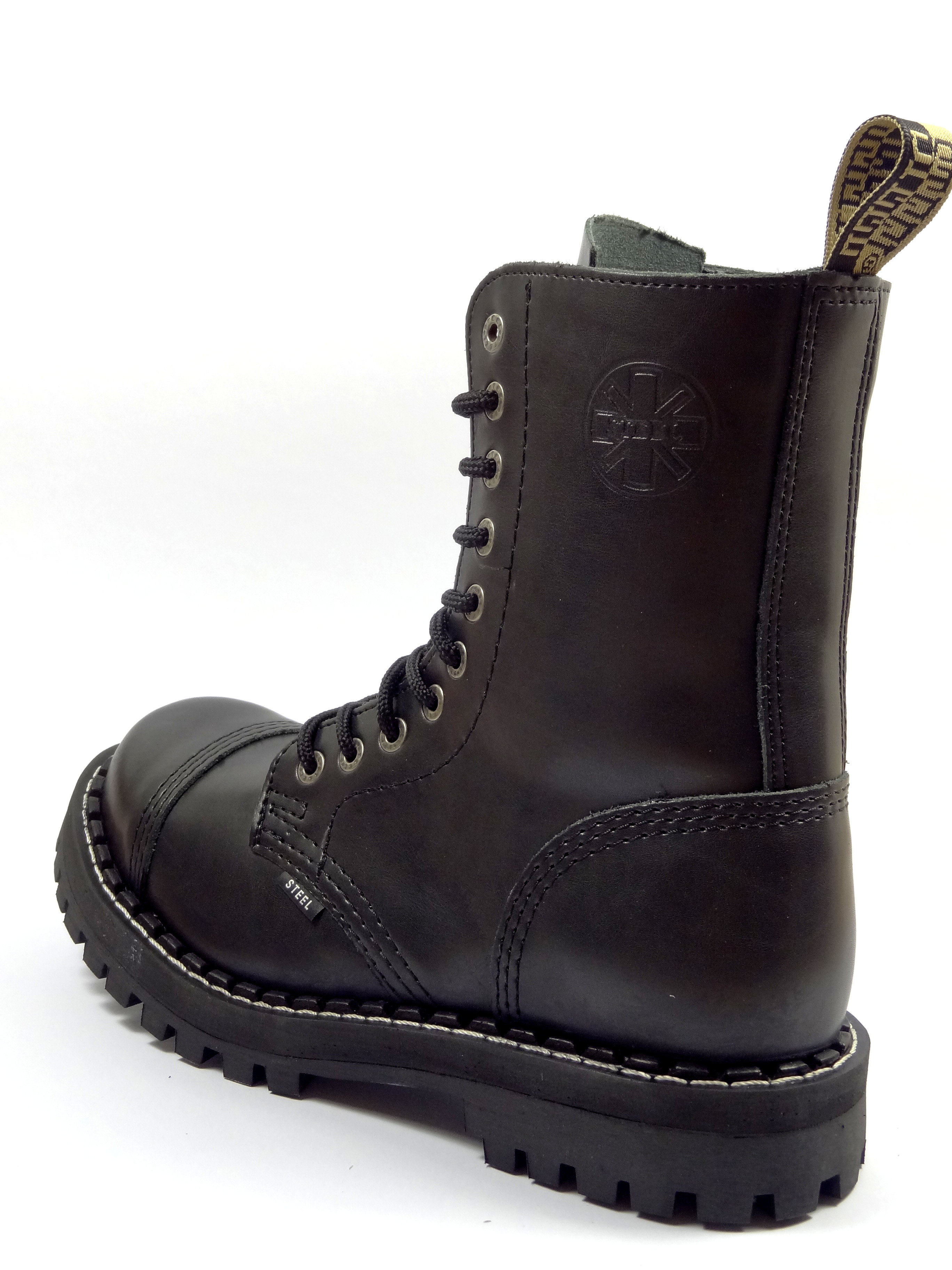 fc4be5b7079 Steel boty 10 dírkové černé - se zipem