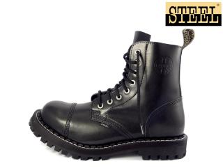 4f6c17eafa8 Steel boty 8 dírkové černé
