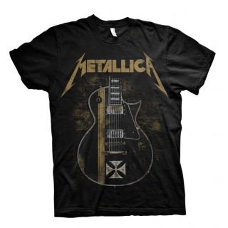 Tričko Metallica Hetfield Iron Cross Guitar Black černé
