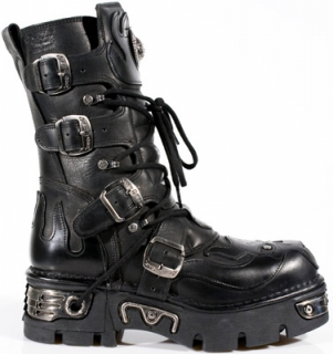 New Rock boty 107-S3 ITALI NEGRO, NOMADA NEGRO, NEW REACTOR NEGRO ORIFICIO
