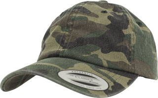 Kšiltovka Brandit  Low Profile Camo Washed Cap woodland 7048.10